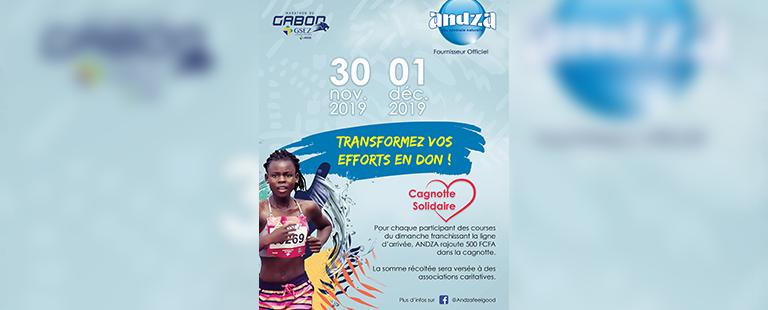 Andza lance la cagnotte solidaire du Marathon