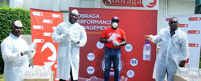 La Sobraga produit et offre de la solution hydroalcoolique pour le Gabon!